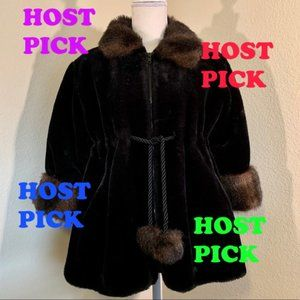 RARE Vintage Women's Oleg Cassini Faux Fur Coat